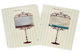 Meadowsweet Kitchens Archival 3 x 5 Recipe Card Pages for 3 Ring Binders