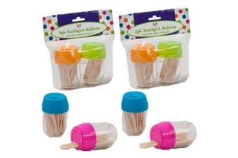 (8) - Set of 8 Black Duck Brand Toothpick Dispensers Assorted Colour Barrels – 800 Picks (8)