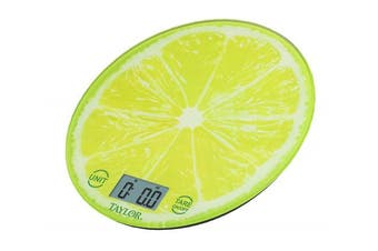 (Lime) - Taylor Precision Products Lime Citrus Glass Kitchen Scale, Green