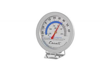 Escali AHF1 NSF Listed Refrigerator/Freezer Thermometer, Silver