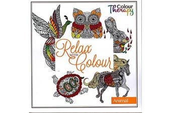 Anti Stress Adult Colouring Book Relax Colour ANIMAL Therapy Drawing Fun Gift Art Creative 60 Designs by Concept4u