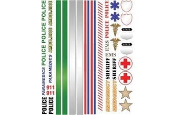 Police/Emergency Pinewood Derby Car Decals by ABC Pinewood Derby