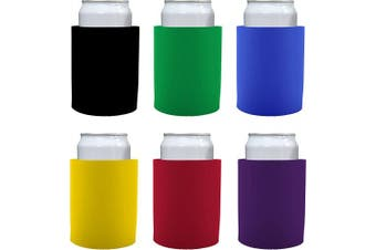 "(6, Various) - Blank Thick Foam ""Old School"" Style Can Cooler(s) (6, Various)"