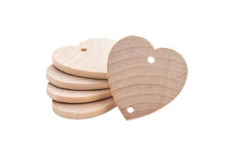 (Bag of 300) - Heart Shaped 2.5cm - 1.3cm Real Wooden Board Tags – Wooden Tags For Birthday Boards, Chore Boards or other Special Dates - Bag of 300
