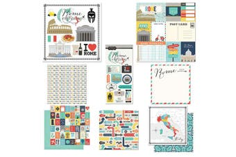 Scrapbook Customs Themed Paper & Stickers Scrapbook Kit, Rome City Memories