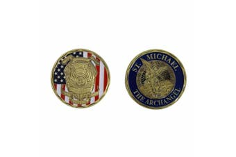 (Style2) - ST. Michael The Archangel Police Challenge Coin in Bronze Style