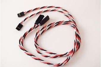 Twisted Servo Extensions 22G 36in (90CM) Futaba Male to Female