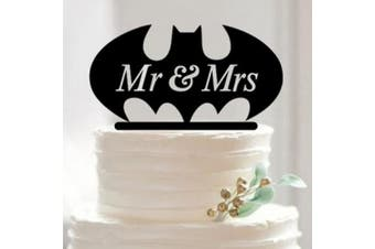 Batman - Wedding Cake Topper - Mr and Mrs