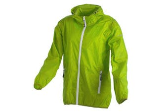 (152 (EU), Green - Mela-Yellow) - CMP - F.LLI Campagnolo Girls' Rain Jacket