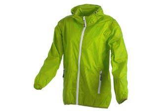 (164 (EU), Green - Mela-Yellow) - CMP - F.LLI Campagnolo Girls' Rain Jacket