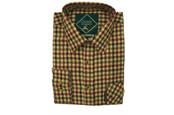 (HIGHCLERE-RED, 3-4 Yrs) - Country Classics Kids Long Sleeved Cheque Country Shirts