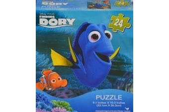 Finding Dory 24pc Jigsaw Puzzle 23cm x 25cm Featuring Dory, Nemo, Marlin and Hank