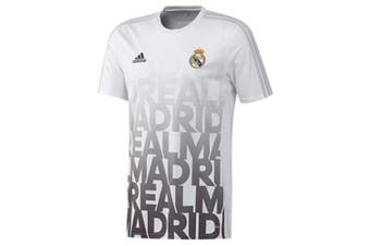 (9-10 YEARS) - REAL MADRID FC HOME KIT CHILDREN`S PRE MATCH SHIRT