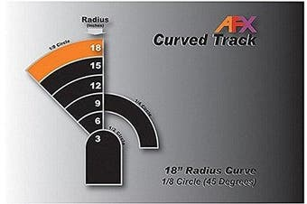 AFX AFX70621 Track, Curve 18 1/8 Pair by AFX