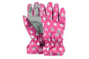 (5 (Manufacturer size: 5), Pink (Berry stars)) - Barts Gloves Basic Skiglove Kids