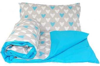 (cotbeds, 135 x 100 cm, 11) - Baby's Comfort REVERSIBLE 2pcs baby bedding set DUVET/ QUILT COVER + PILLOWCASE (135x100cm for cotbeds, 11)