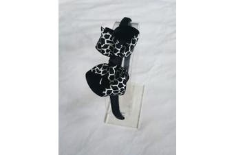 (Black & White2) - Alice Band With Bow Girls Ribbon Hair Band Headband (Black & White2)