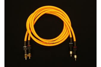 Van Damme Orange Ultra Analogue Interconnect Pair Cable 1 Metre Length Terminated With High Quality Gold Plated RCA Phono Plugs.