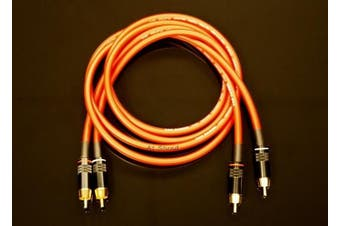 Van Damme Red Ultra Analogue Interconnect Pair Cable 1.5 Metre Length Terminated With High Quality Gold Plated RCA Phono Plugs.
