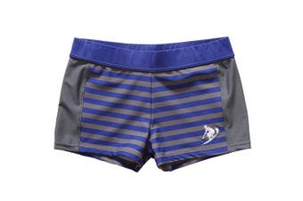 (5 - 6 Years, Blue Stripe) - CharmLeaks Boys Swimming Shorts Swim Boxer Trunks Swimwear Swimsuits
