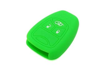 (Light Green) - Fassport Silicone Cover Skin Jacket fit for CHRYSLER DODGE JEEP Remote Key CV4751 Light Green