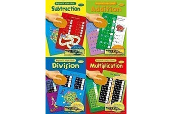 Beginner's Set of 4 Wipe Clean Childrens Educational Maths Books by Alligator Books