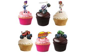 17 Stand Up Blaze & The Monster Machines Premium Edible Wafer Paper Cake Toppers Decorations