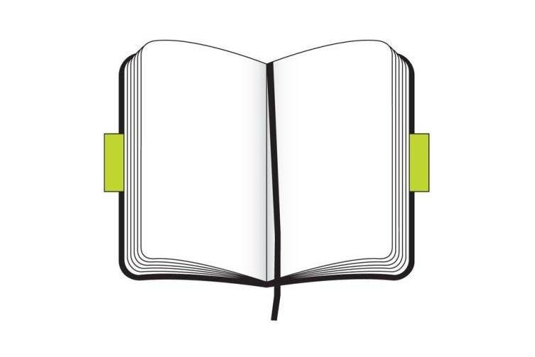 (Blank, Large, black) - Moleskine Classic Notebook, Large, Plain, Black, Soft Cover (5 X 8.25)