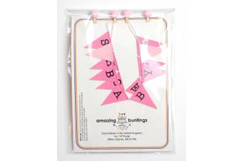 Amazing Buntings - Baby Shower - Bunting Cake Topper - Pink - 120