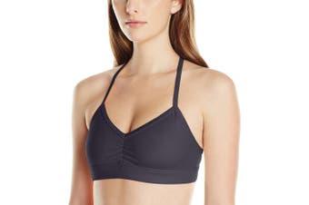 (Large, Black Glossy) - Alo Yoga Women's Sunny Strappy Bra