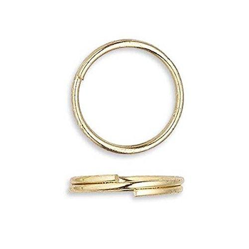 Gold Plated Jewellery Findings Split Rings