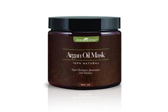 Pure Originals Argan Oil Hair Mask, Deep Conditioner 240ml,100% Organic Jojoba Oil, Aloe Vera & Keratin, Repair Dry, Damaged Or Colour Treated Hair After Shampoo, Best For All Hair Types