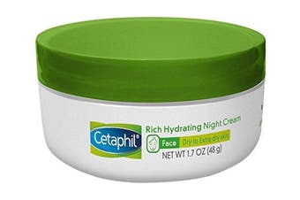 (1 Jar) - Cetaphil Rich Hydrating Night Cream with Hyaluronic Acid, 50ml