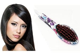 Pure Acoustics Art Major Controlled Heat Straightening Brushes, Abstract Floral, 1890ml