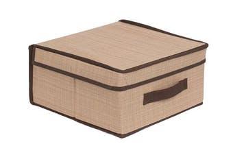 (Brown) - Internet's Best Storage Box with Handles   Durable Storage Bin Basket Containers   Clothes Nursery Toys Organiser   Brown (Beige)