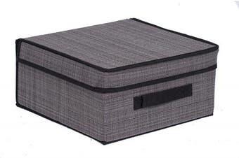 (Grey) - Internet's Best Storage Box with Handles   Durable Storage Bin Basket Containers   Clothes Nursery Toys Organiser   Grey