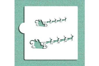 Santa's Sleigh Cookie and Craft Stencil CM077 by Designer Stencils