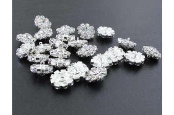 (feet) - Wholesale 24PCS 16MM Small Clear Rhinestone Buttons Sewing Craft Embellishments (Shank)