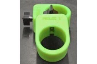 (Neon Green) - Proloc 1 - Standard Olympic Barbell Collars (Pair)