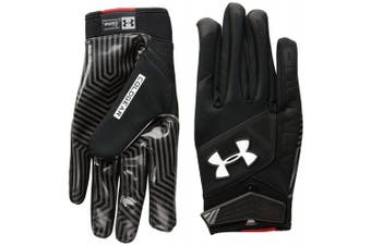 (Small, Black/Black) - Under Armour Men's Playoff ColdGear II Gloves