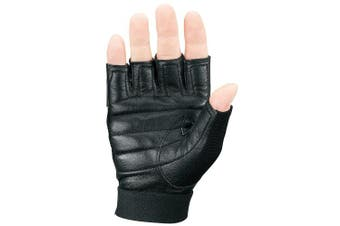 (X-Small, Black) - Markwort Palm Pad Weight Lifting Gloves