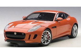 2015 Jaguar F-Type R Coupe Firesand Metallic Orange 1/18 by Autoart 73653