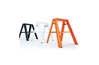 (Orange) - Hasegawa Ladders Lucano Step Stool, Orange