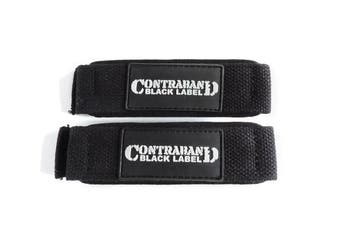 (1.5in Standard Black) - Contraband Black Label 2000 Padded Cotton Lifting Straps
