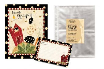 (Fresh is Good) - Family Recipe Binder Kit with Brownlow Fresh is Good, Recipe Cards Plus 10 Bonus Protective Refill Sleeves