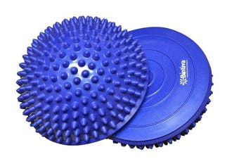 (Blue) - Balance Pods Set - 1 Pair Hedgehog Style Domed Stability Pods for Children and Adults