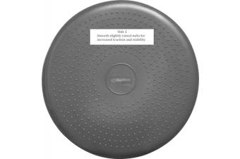 (Gray) - bintiva Inflated Stability Wobble Cushion, Including Free Pump/Exercise Fitness Core Balance Disc