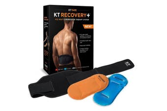 KT TAPE KT Recovery+ Ice/Heat Compression Therapy System with Adjustable Wrap, Black