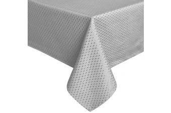 (Rectangle/Oblong, 150cm *260cm , Gray) - ColorBird Elegant Waffle Jacquard Tablecloth Polyester Fabric Water Resistant Spillproof Table Cover for Kitchen Dinning Party Tabletop Decor (Rectangle/Oblong, 150cm x 260cm , Grey)