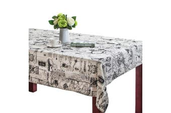 (24 X 24 Inch (60*60CM), Map) - Bringsine Square Cotton Linen World Map Washable Tablecloth Vintage Rectangle Dinner Picnic Table Cloth Home Decoration(Square, 60cm x 60cm )